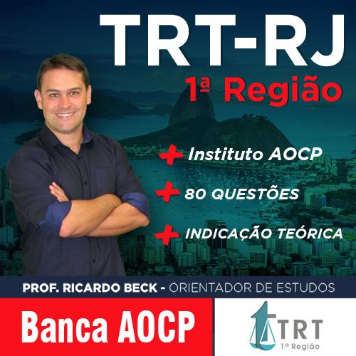 TRT-RJ / AOCP | Questões + indicação teórica |  INFORMÁTICA