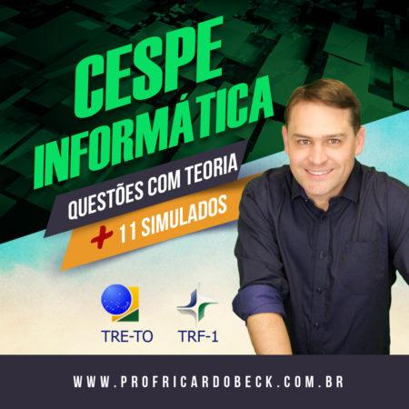 CESPE – Tribunais + PF + PRF | Simulados + Questões + Indicação Teórica