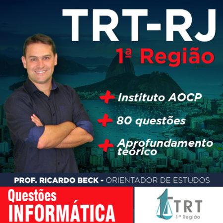 TRT-1 / AOCP | Questões com Indicação Teórica