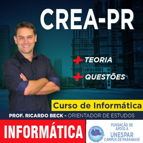 CREA-PR | Questões + indicação teórica | Banca UNESPAR