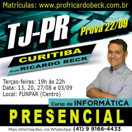 TJ-PR | Curso PRESENCIAL – Curitiba