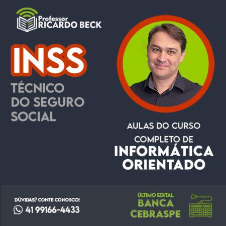 Curso Completo de Informática – Módulo: INSS | Banca CEBRASPE | Teoria + Questões