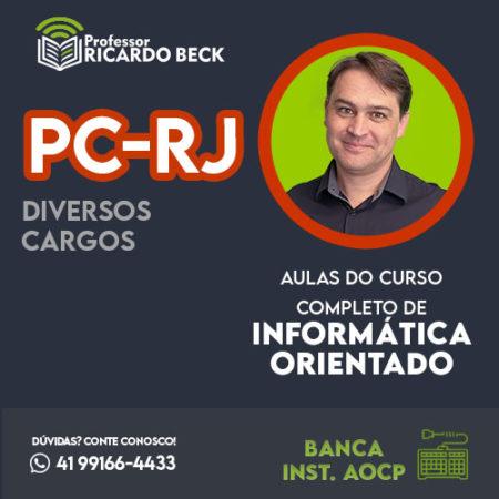 Curso Completo de Informática – Módulo: PC-RJ | Banca Inst. AOCP | Teoria + Questões
