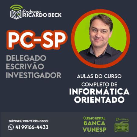 Curso Completo de Informática – Módulo: PC-SP | Banca VUNESP | Teoria + Questões