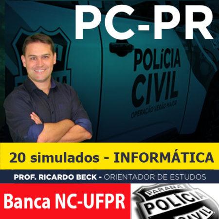 Simulados || PC-PR || 20 provas de 5 questões | Banca NC-UFPR