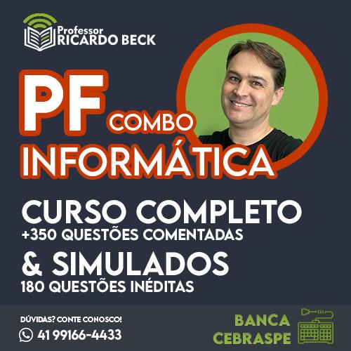 PF 2021  | COMBO: TEORIA e questões + SIMULADOS | INFORMÁTICA | Cebraspe