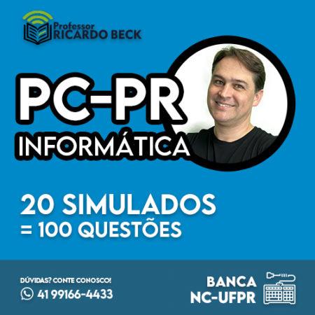Simulados    PC-PR    20 provas de 5 questões   Banca NC-UFPR