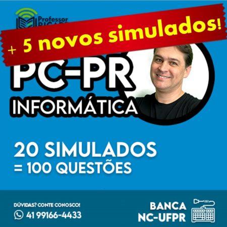 Simulados || PC-PR || 25 provas de 5 questões | Banca NC-UFPR