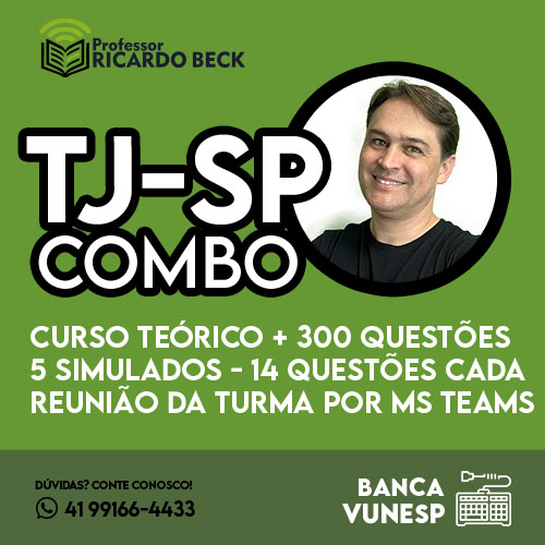 TJ-SP 2021 / VUNESP   INFORMÁTICA COMBO